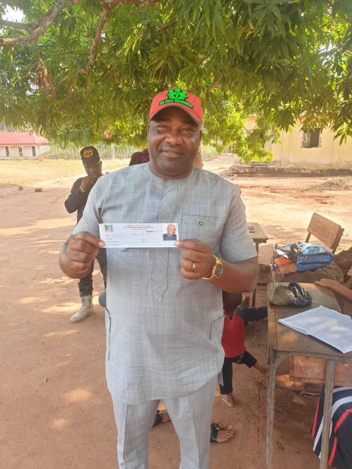 Imo Governor, Hope Uzodinma's Younger Brother, Uche Uzodinma Revalidates APC Membership Card