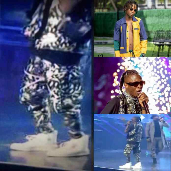 Laycon's Shoe Trends On Social Media As He Performs At #14Headies [PHOTOS]