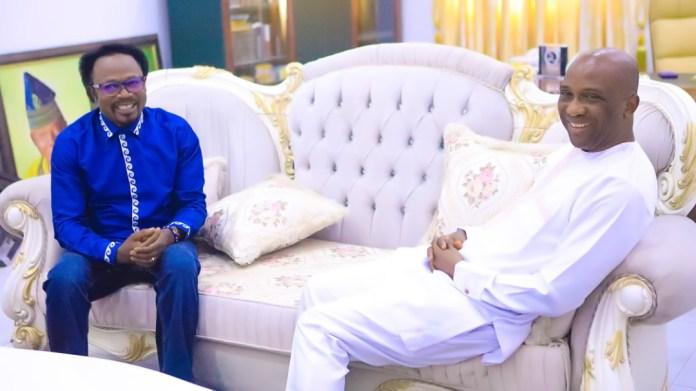 PHOTOS: Primate Ayodele Pays Prophet Joshua Iginla A Condolence Visit In Abuja