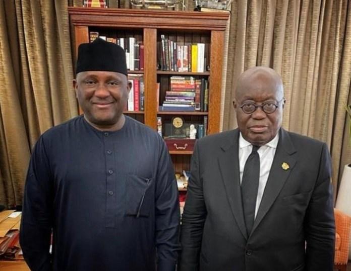 BREAKING: BUA Chairman Visits Ghanaian President [PHOTO]