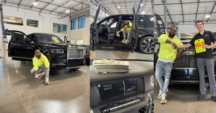 BADDESTLY RICH! Davido Buys 2021 Rolls Royce [PHOTOS]