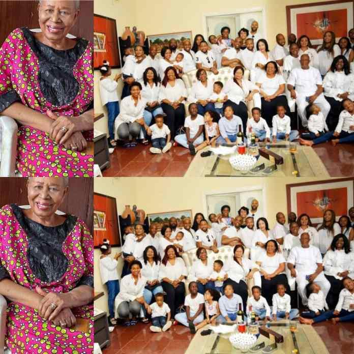 WAWU!!! See Photos Of 96-Year-Old Nigerian Woman With 12 Children, 36 Grandchildren And 43 Great Grandchildren