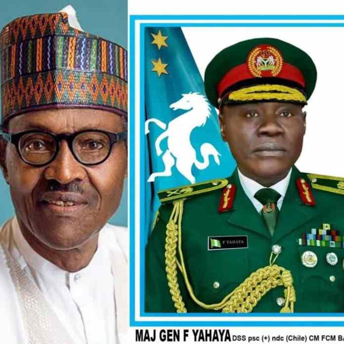 BREAKING: Buhari Appoints Major General Farouk Yahaya As New COAS