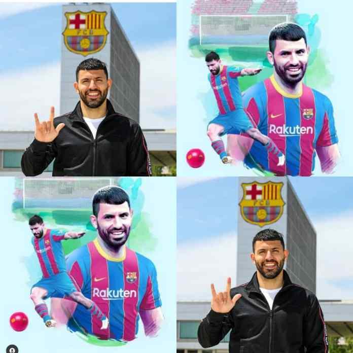 DONE DEAL!!! Mancity Legend, Sergio Aguero Officially Signs For Barcelona [PHOTOS]