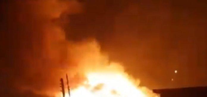 BREAKING: INEC Headquarters In Enugu Destroyed By Fire