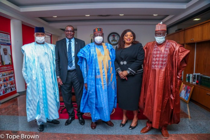Fidelity Bank's Courtesy Visit To The Office Of The Senate President Of Nigeria