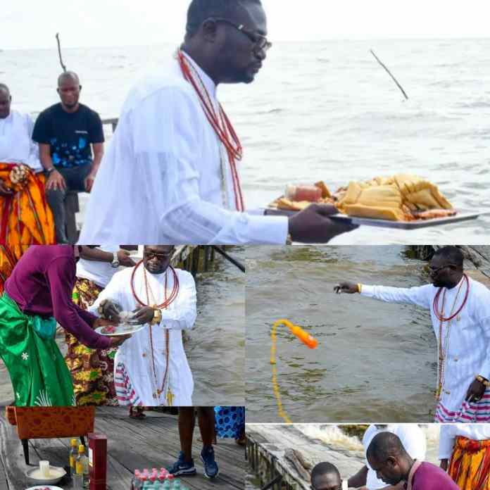 PHOTO NEWS: Ayiri Emami Performs Water Rituals After Removal By Tsola Emiko