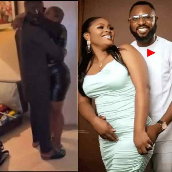 VIRAL VIDEO: Tega And Her Husband Finally Meet As They Shared Passionate Kiss After #BBNaija's Amorous Affair With Tega