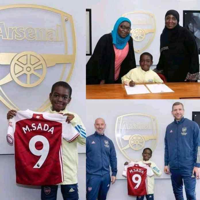 BREAKING: Nigerians React As Arsenal Signed 9-Year-Old Munir Sada [Photos]