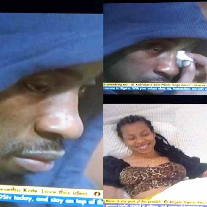 Moment #BBNaijaSeason6 Saga Weeps Uncontrollably Over Nini's Disappearance [VIDEO]