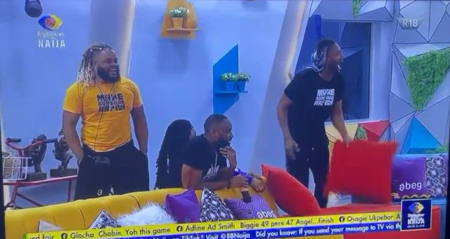 Exiting Moment Angel And #BBNaija Pere Returned To #Biggie's House For Grand Finale [VIDEO]