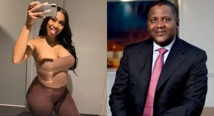 REPORT!!! Aliko Dangote's Alleged Side Chic Excited As US Court Dismisses Case
