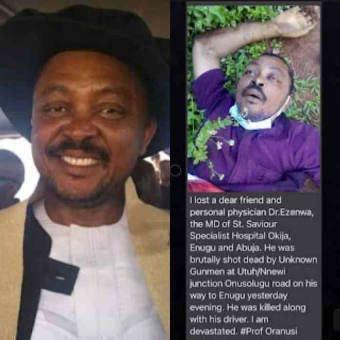 Like Dr Chike, Gunmen Assassinate One Of Nigeria's Best Surgeons In Anambra State [PHOTO]