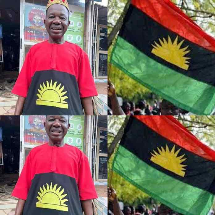 I Only Have Rising Sun And Not Biafra Flag On My Cloth - Chiwetalu Agu Tells Soldiers [VIDEO]