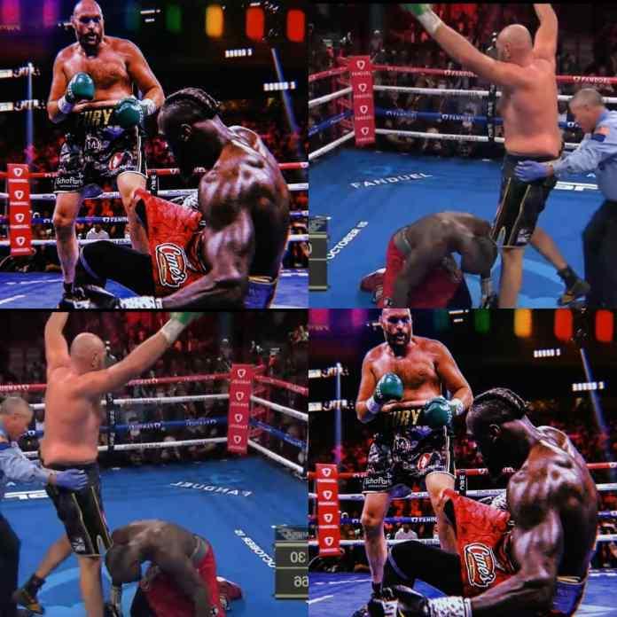 BREAKING: Tyson Fury Knocks Out Deontay Wilder In #FurtWilder3 Trilogy Fight [VIDEO]