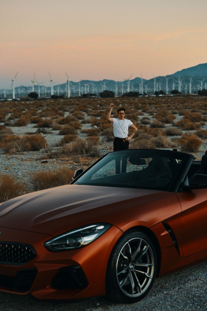 Brooklyn Beckham & BMW Z4