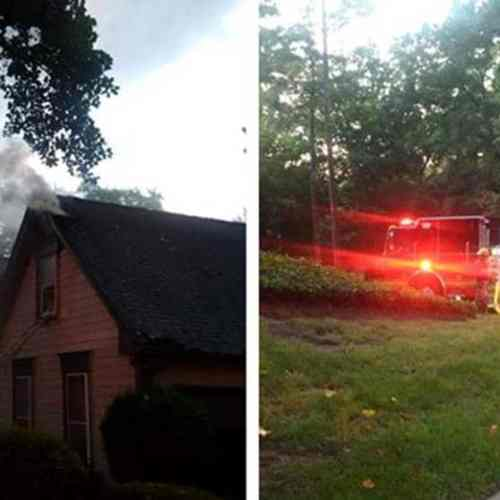 Lightning strike causes attic fire near Stone Mountain
