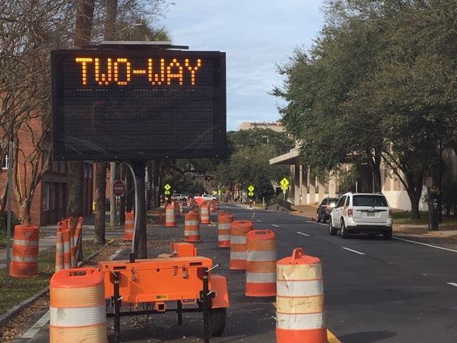 A one way street in Savannah is about to open for two way traffic