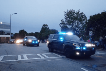 WATCH: Lawrenceville Police parade for health care heroes