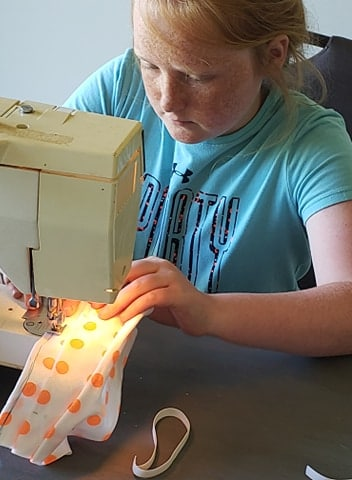 This Georgia 10-year-old is sewing masks for children