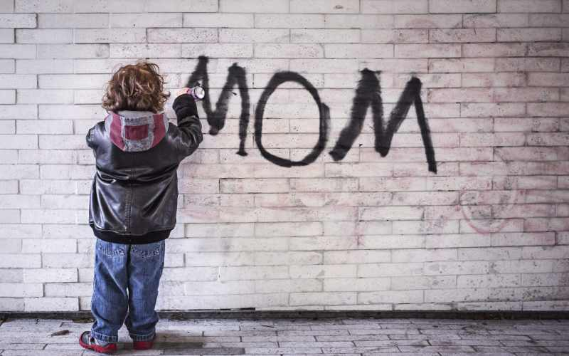 mom, graffiti, the art of