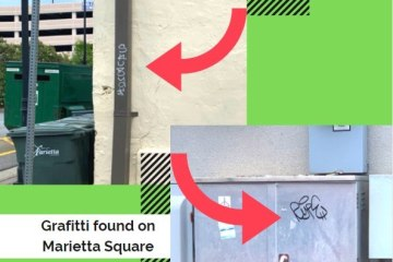 Graffiti found on Marietta Square