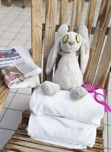 otelde unutulan tavşan