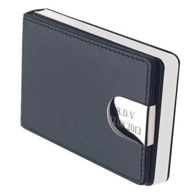 Personalised Leather Business Card Case   The Gift Experience Personalised Leather Business Card Case