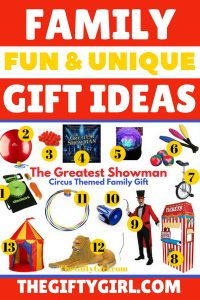 fun and unique family gift ideas The Greatest Showman