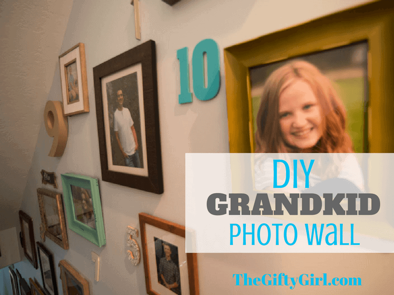DIY Grandkid Photo Wall