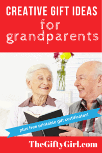 Creative Gift ideas for grandparents, older parents and seniors!