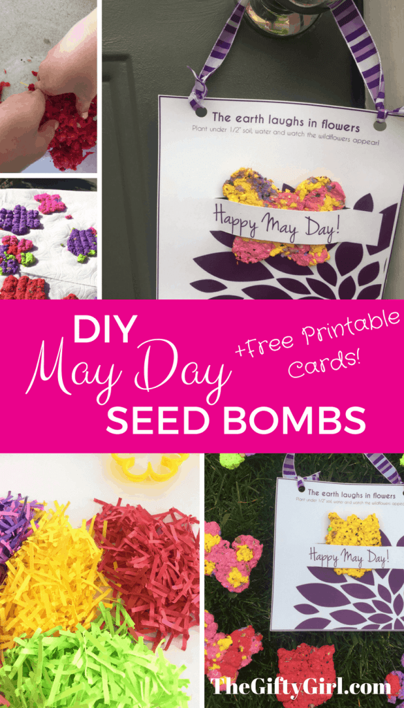 DIY May Day Gift idea: Seed bombs for your kids to make