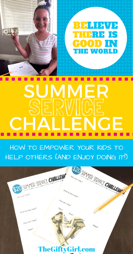 The Summer Service Challenge. Empowering your kids to serve and enjoy it!