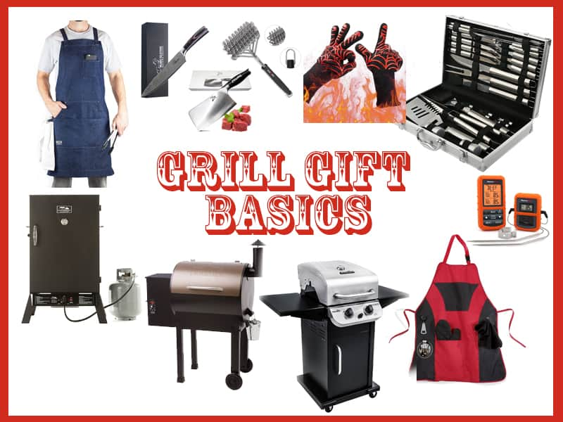 Basic BBQ or grilling gifts ideas for men