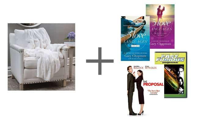 Wedding Gift Throw Blanket Books Movies