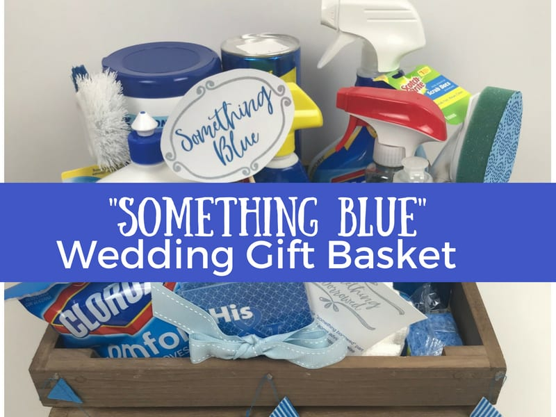 Something Borrowed Something Blue Bridal Shower Gift Basket The