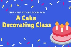 DIY cake decorating experience gift for kidss