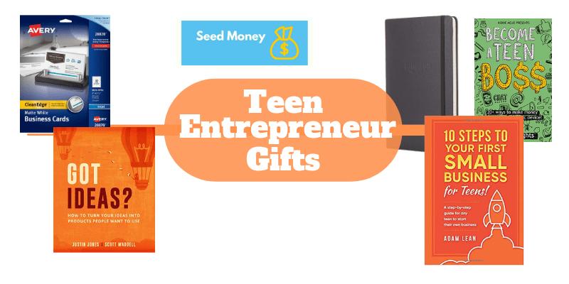 Teen  Entrepreneur Gift Ideas, business books for teens, side hustle books for teens