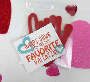 Sticky Hand Tag for Valentine's Gift Hands Down you are our Favorite