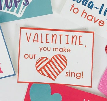 You make our heart sing free printable Valentine's Day Tag
