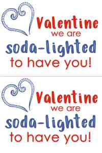 Soda Gift Tag for Valentine's from parents to kids