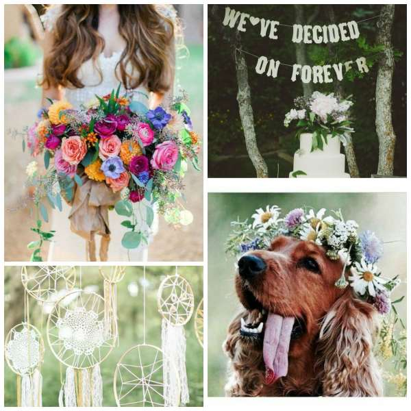 The Gilded Gown - Knoxville TN - Boho Wedding Inspo Collage 2