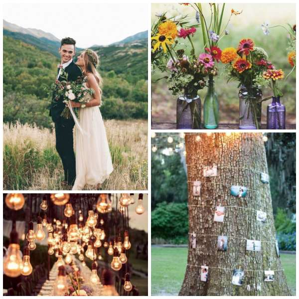 The Gilded Gown - Knoxville TN - Boho Wedding Inspo Collage 3