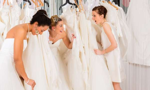 brides shopping at The Gilded Gown on National Bridal Sale Day