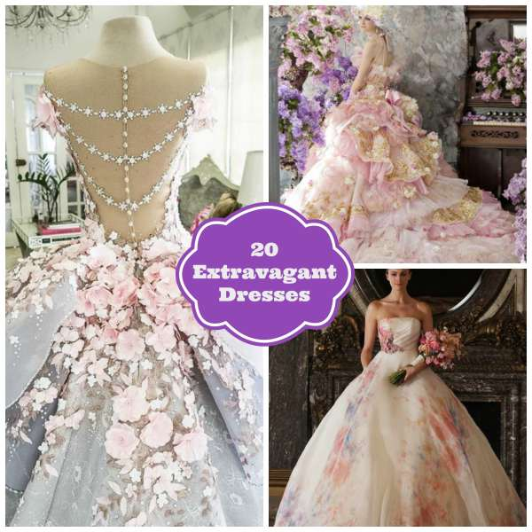20 Extravagant Dresses Collage