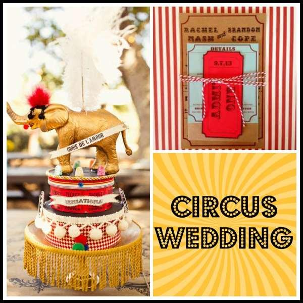Circus Wedding Collage 1