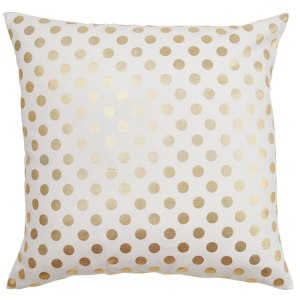 Caitlin Wilson Gold Dots Large Cushion Cover