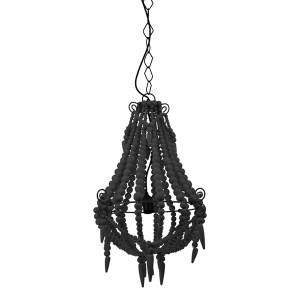 Boho Black Beaded Chandelier (Small)