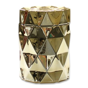 Gold Diamond Cut Soy Candle
