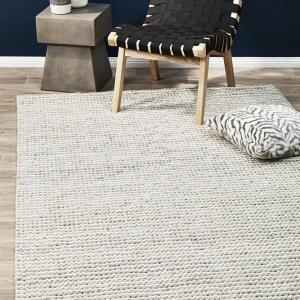 Studio White Chunky Knit Floor Rug